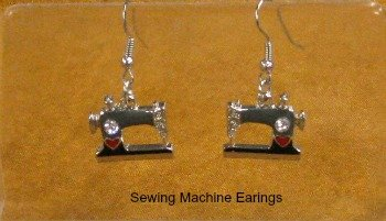 Enamel Alloy Sewing Machine Earrings Fashion Jewelry