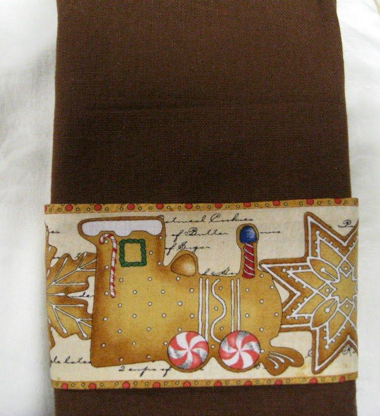 Tea Towel, Sewing Tea Towel, Christmas Cookies Tea Towel Kit, Ready to sew, Easy to make