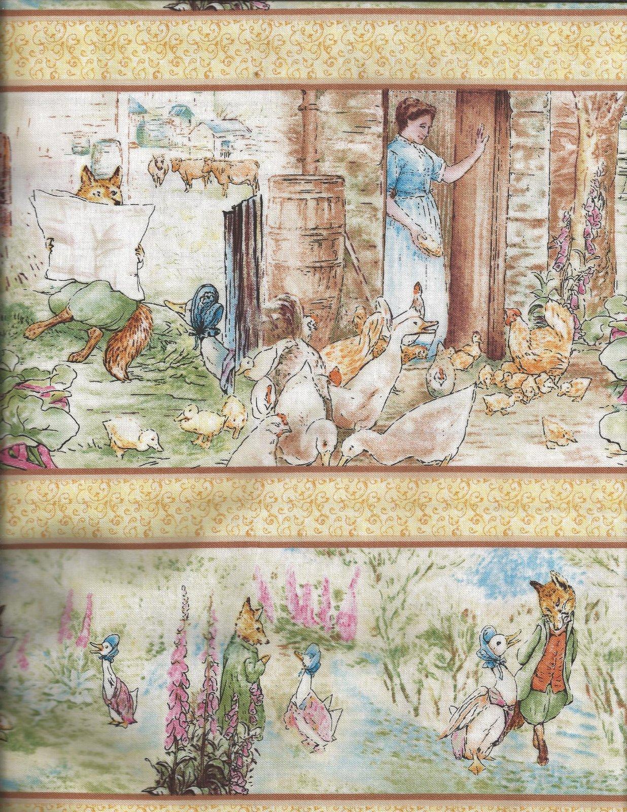 Jemima Puddle Duck, Beatrix Potter, Frederick Warne & Co. Quilting Treasures