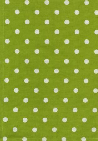Tea Towel, Printed Polka Dots on Lime Green