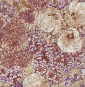 Lillies Ecru by Marion Mathews for M & S textiles
