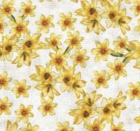 Forever Sunflowers  Cream/Flowers