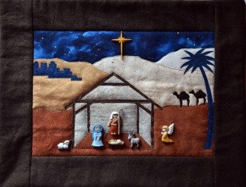 Silent Night Button Quilt by Mouse Blankets