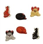 Cool Cats Buttons (3-d)