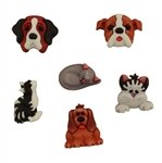 Raining Cats n Dogs Buttons (3-d)