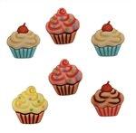 Sweet Cupcake Buttons 3-d