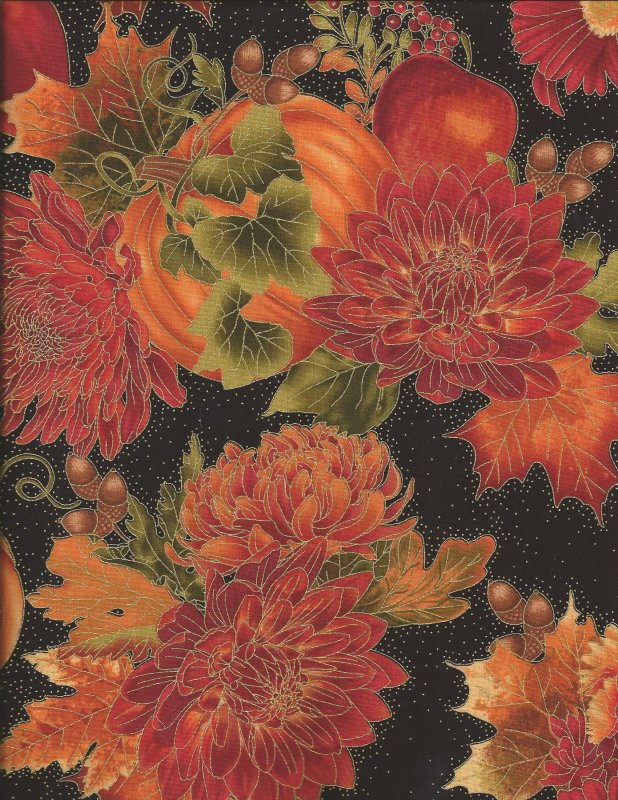 Timeless Treasures Autumn Floral