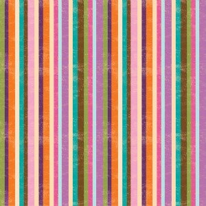 Woodland Critters multi colored stripe by SPX Fabrics