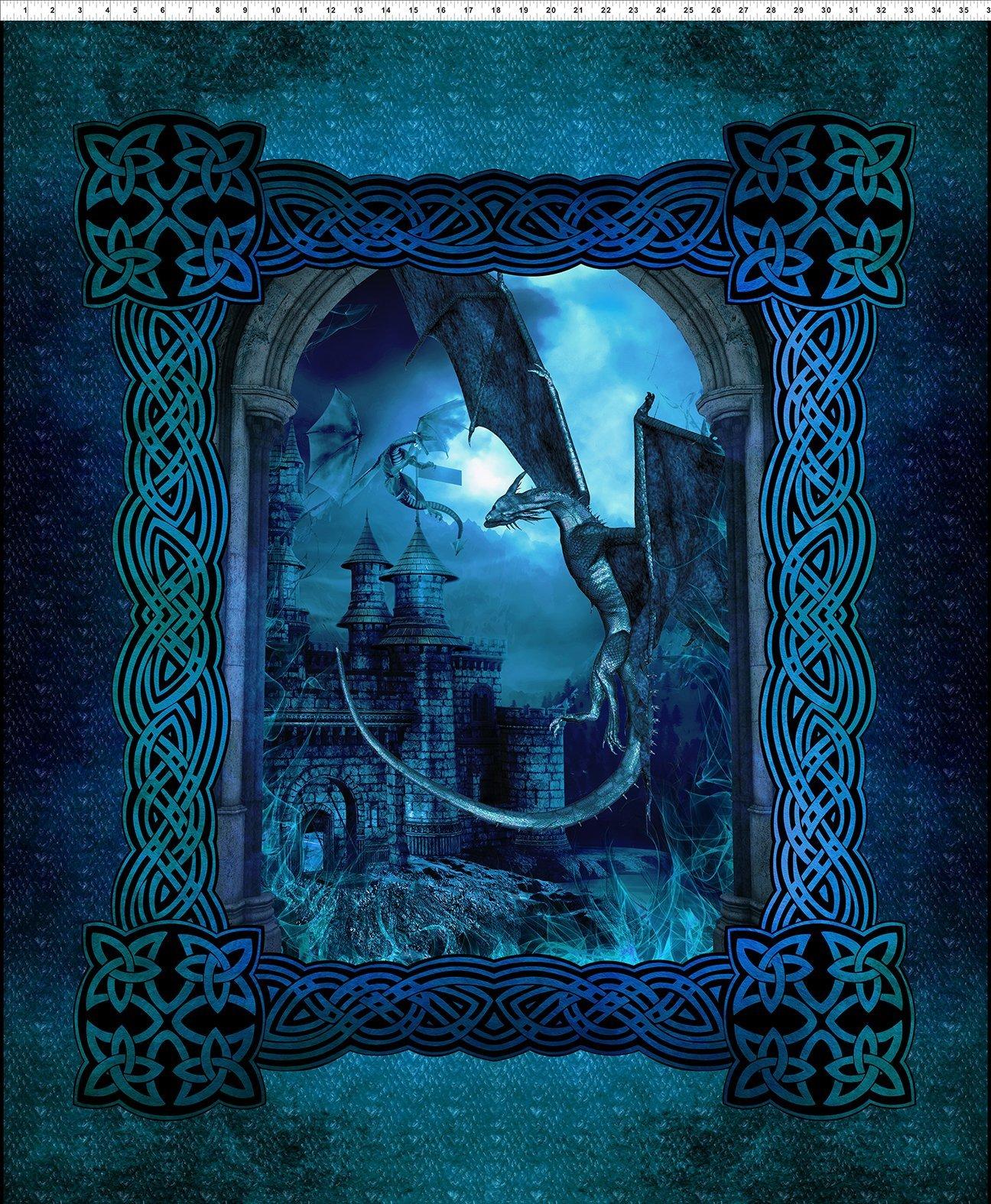 Dragons - Large Castle - Blue Fury - Digital Panel