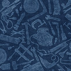 Craftsman Tossed Tools - Blue Tonal
