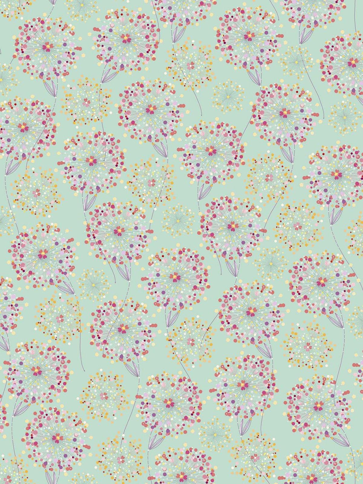 Confetti Blossoms Packed - Medium Seafoam