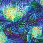 Artworks IX OMBRE SWIRL Digital Print Blue