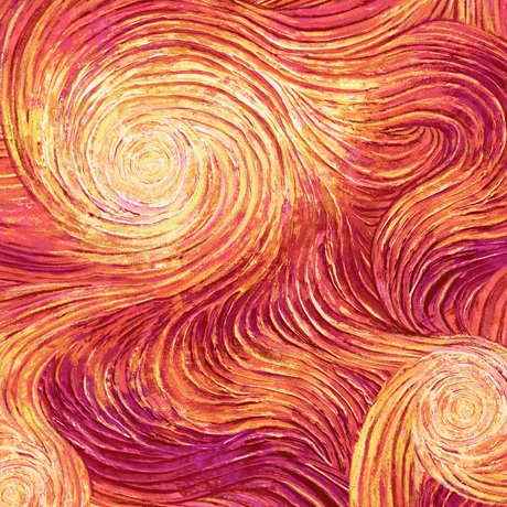 Artworks IX OMBRE SWIRL Digital Print Orange