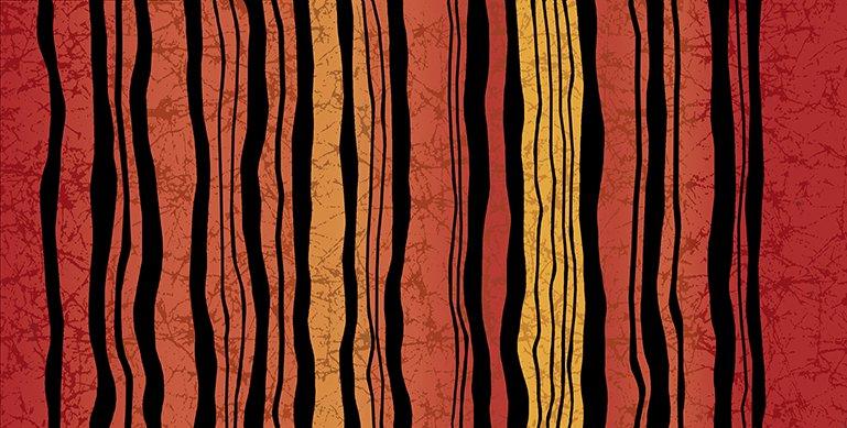 Calypso Wavy Stripe Orange
