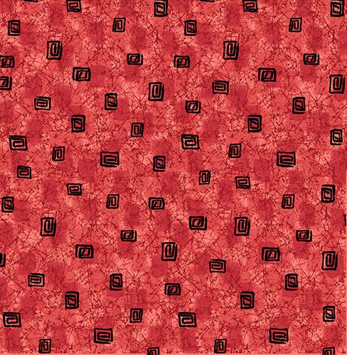 Calypso Square Geo Texture Cayenne