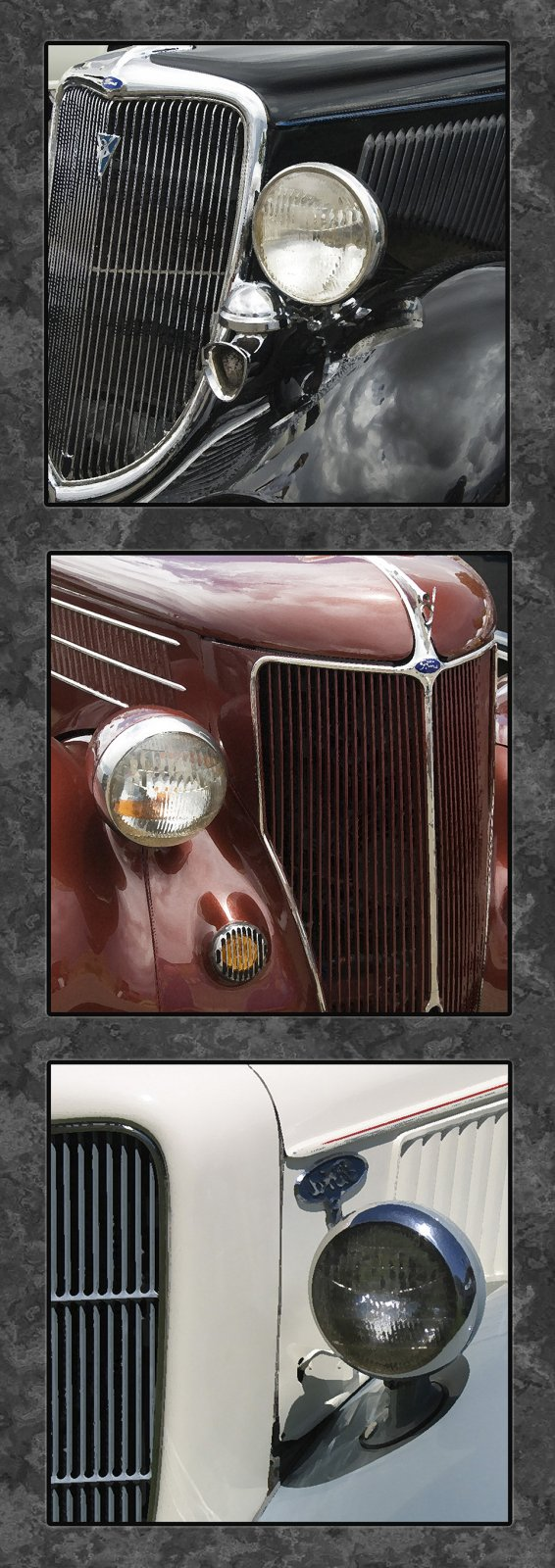 Classic Car Grills Panel by Nancy Fuller