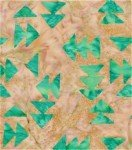 American Quilt Batik - Beige and Turquoise