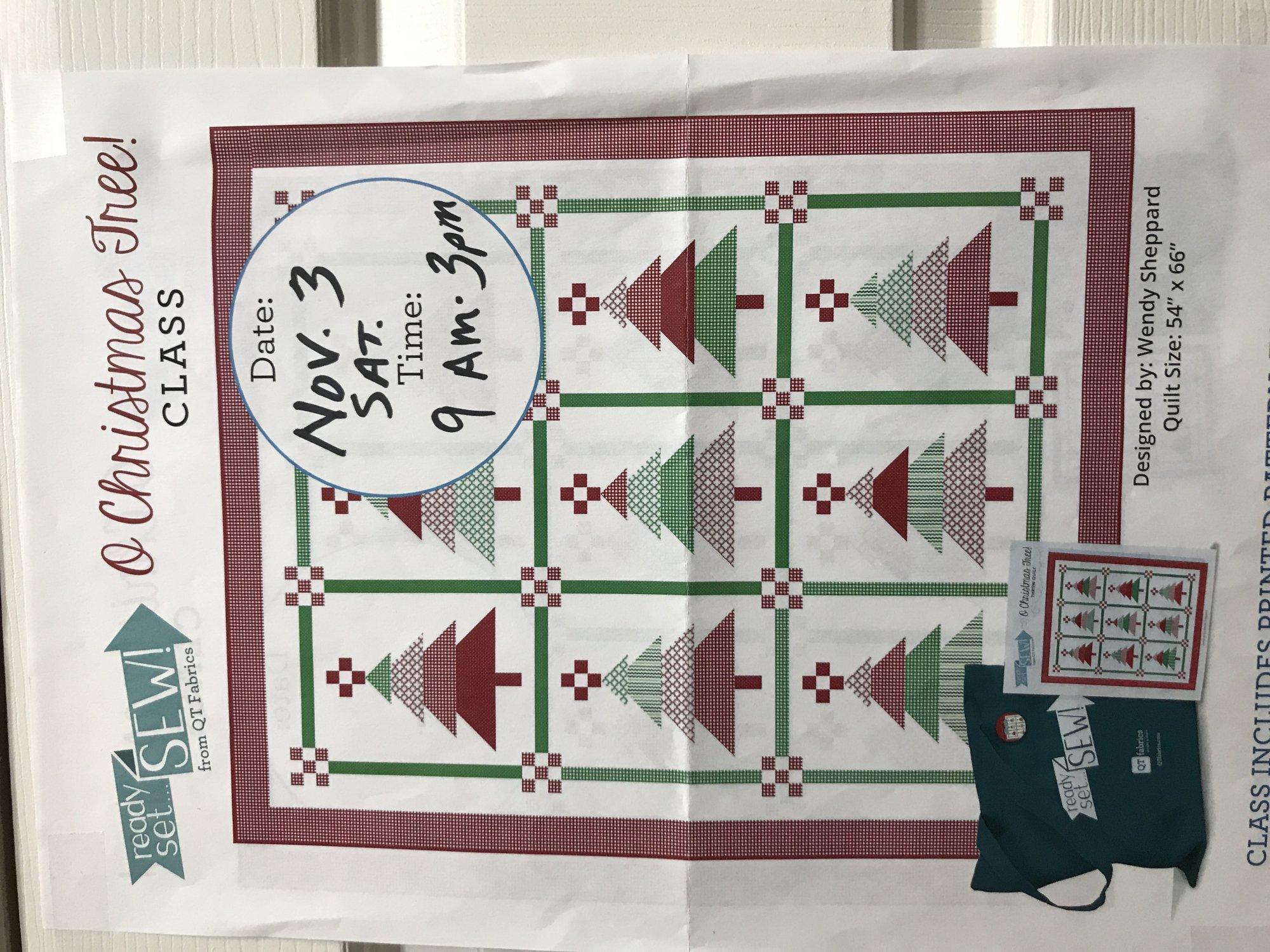 O Christmas Tree - Ready, Set, Sew! Kit