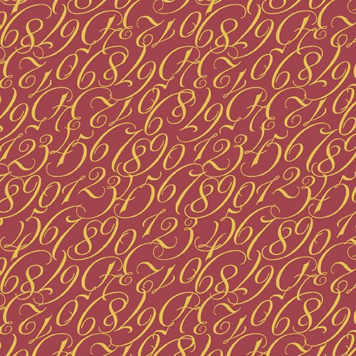 By The Numbers - Maroon Calligraphy