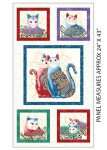 Cat-I-Tude II Purr Fect Together Panel White/Multi