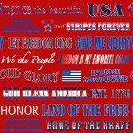 American Trucker - Red Patriotic Phrases