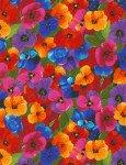 Awaken Packed Flowers Multi Digital Print