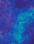 Awaken Swirls Blue Digital Print