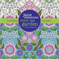 Jane Sassaman Color My Garden Adult Coloring Book