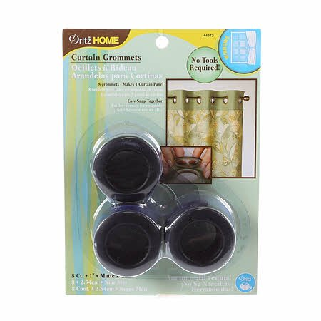 Curtain Grommet Medium Matte Black 1in 8ct