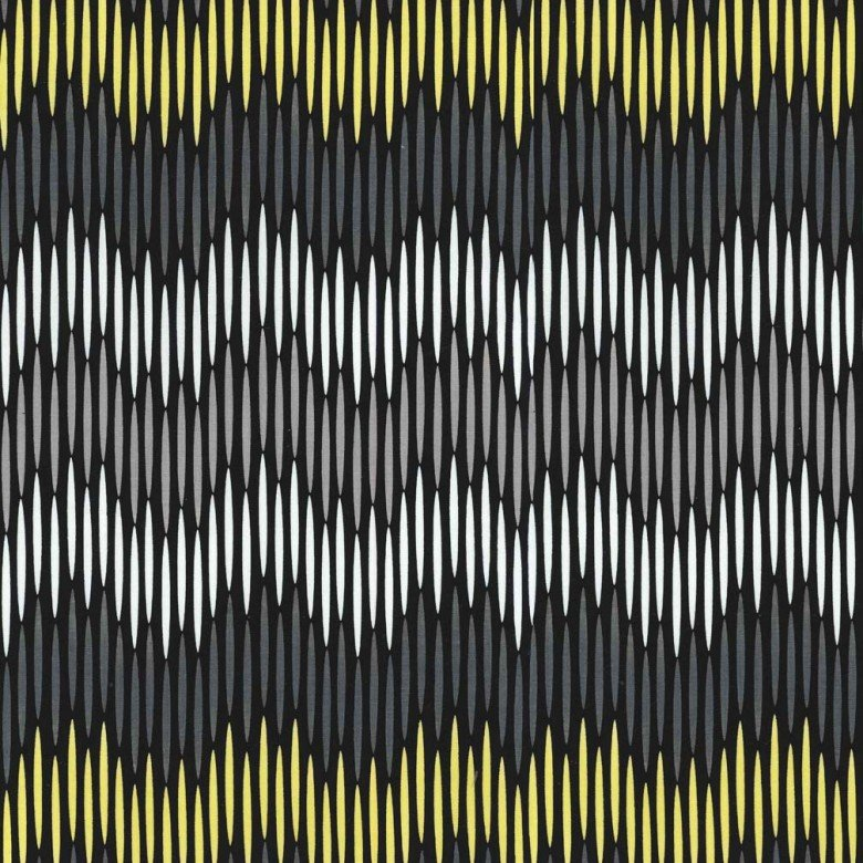 Asha Stripe - Citrine Charcoal