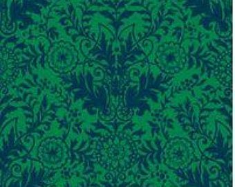 Zola Damask - Green/Navy