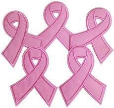 Breast Cancer Applique' - 6 pcs