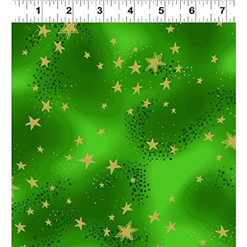 Enchantment Inspirations Dark Green Metallic Stars