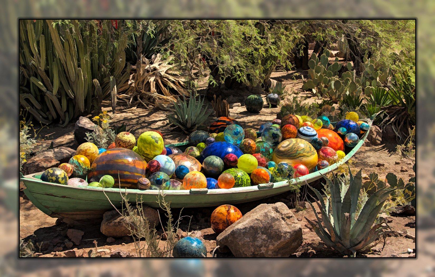 CHIHULY GLASS BALLS-BOTANNICAL GARDENS PANEL by Nancy Fuller