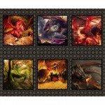 Dragons - Dragon Species Vignettes Digital Panel - Red