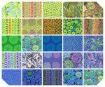 Kaffe' Fassett Collective February 2021 - 10 Squares - Cool