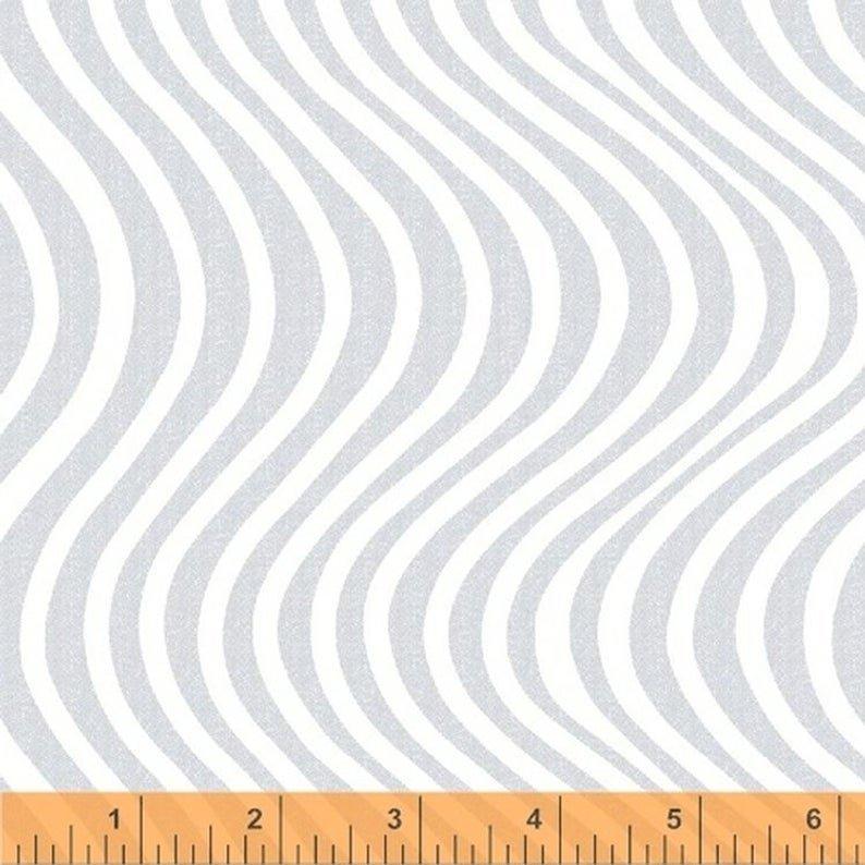 Liberty - Wavy Stripe - White