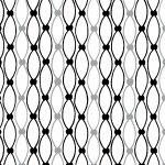 Licorice Candy Netting Stripe White