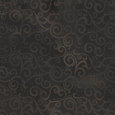 Ombre Scroll Wide Back Black