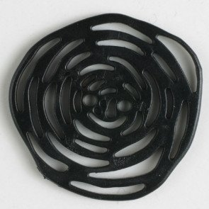 Button Open Rose Black 40mm