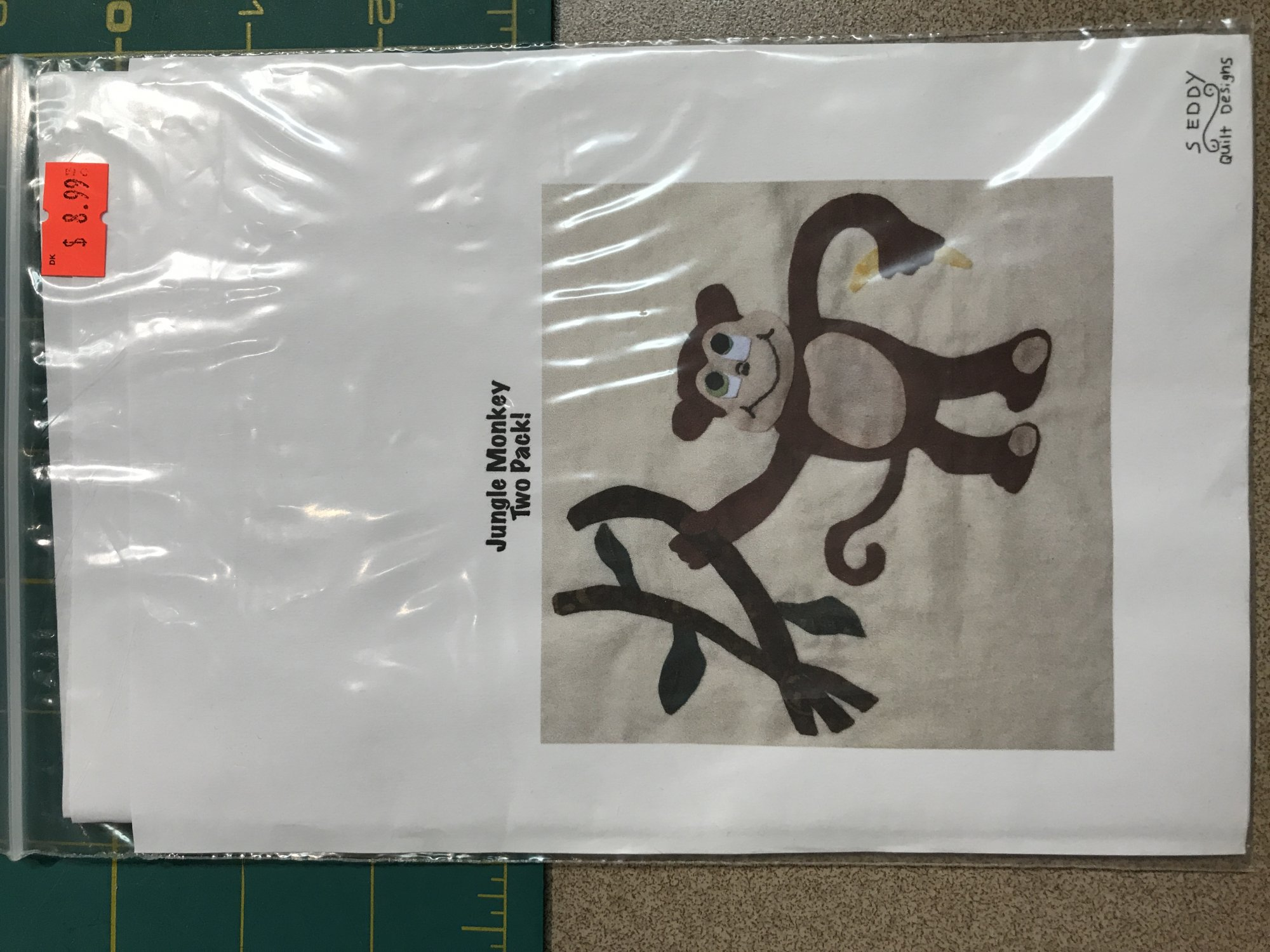 Jungle Monkey 2 Pack Applique