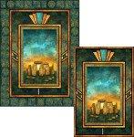 Art Glass Stonehenge Solstice Pattern
