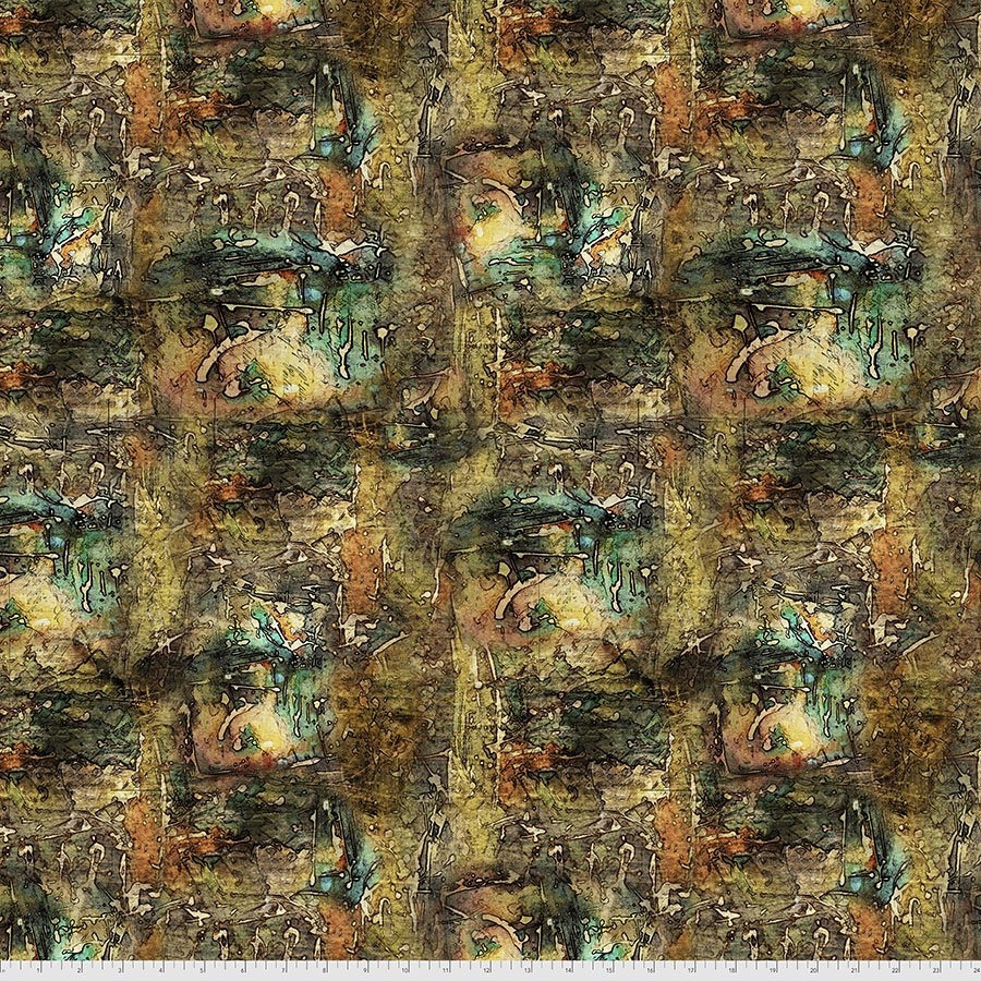 Abandoned 2 -  Dropcloth - Multi - By Tim Holtz