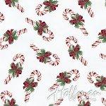 Cardinal Carols Candy Canes -Mist-Silver