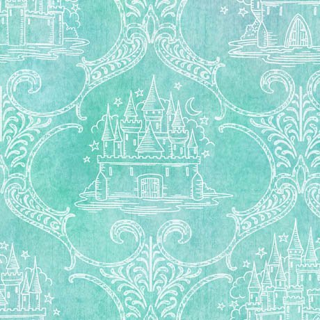 Royal Princess Castle Toile Aqua