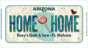 Row by Row 2016 License Plate Home Sweet Home