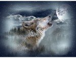 Call of the Wild - Moonstruck ( Wolf ) Panel
