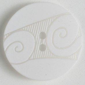 Button Scroll White 24mm