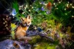 Imagine This Fox Digital Print Panel Forest