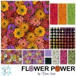 Flower Power by Tina Leto -  42pcs 10in Squares